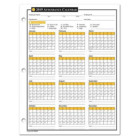 Free Employee Attendance Calendar Template Employee