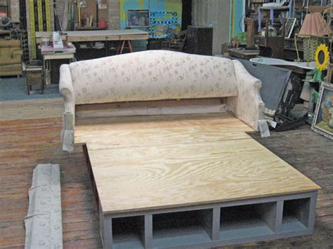 Build Sofa Bed How To Build A Bed Frame Transform An Pull