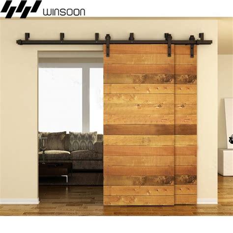 Winsoon 5 16ft Bypass Sliding Barn Door Hardware Double Bypass Barn Door Hardware Kit