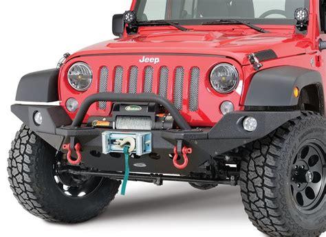 Smittybilt Jeep Bumper Quadratec Q Series Winch In Black With Smittybilt Xrc M O