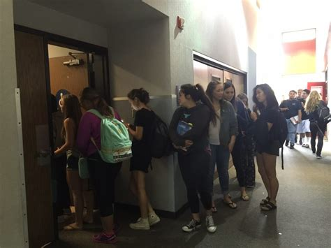 girls bathroom line students face strict new tardy policy the sentinel