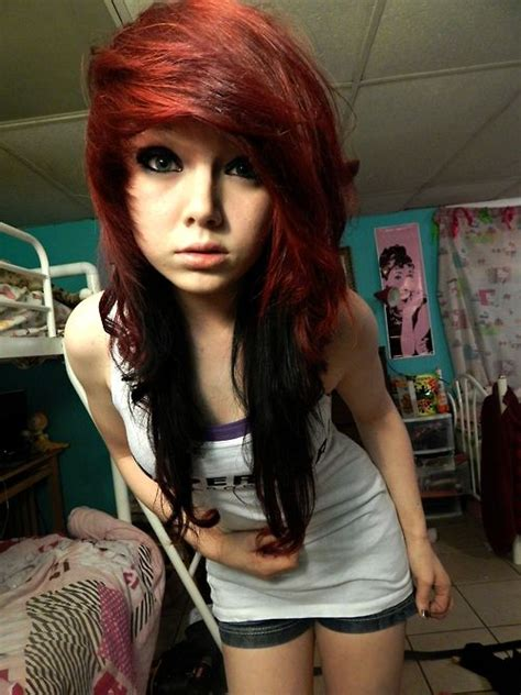 emo hairstyles for redheads 228 best images about emo scene hair on pinterest
