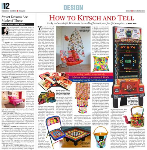 kitsch design meaning the sunday standard march 2013 art by aarohi