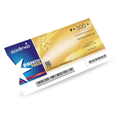 Voucher Sodexo Gift Pass sodexo premium pass gift certificate