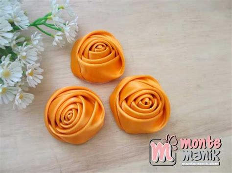 Bahan Craft Kerajinan Aplikasi Bow Satin Onde 468 best images about bunga pita on brooches satin and kanzashi flowers