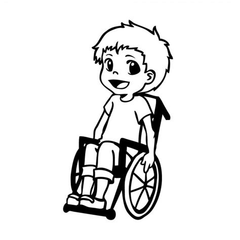 Aufkleber Rollstuhl Kind by Junge Im Rollstuhl Hot And Cool Autoaufkleber