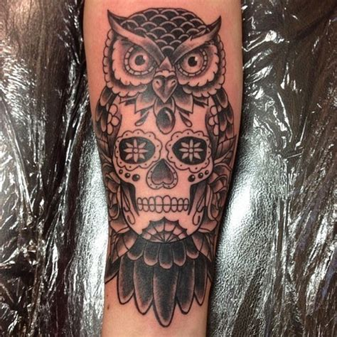 tattoo owl with skull meaning owl tattoos
