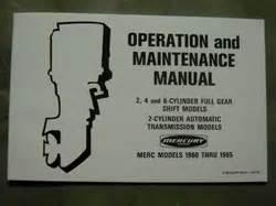 Owners Manual Merc 60 110 350 500