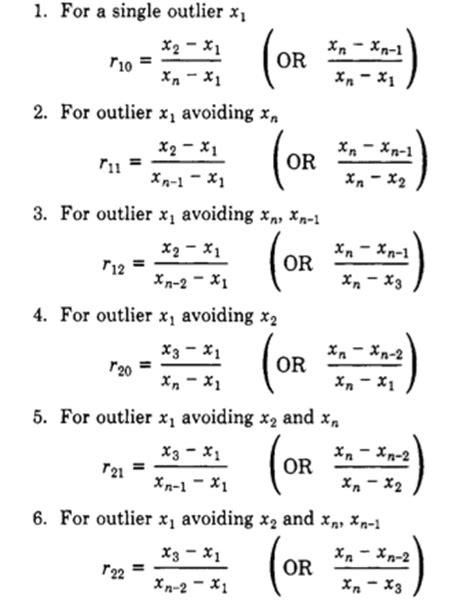 q test dixon s q test for outlier identification