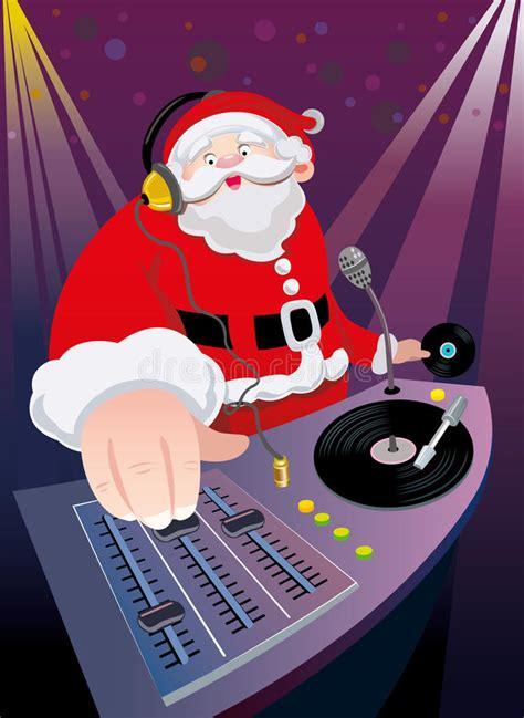 dj santa claus christmas party stock vector image 27269428