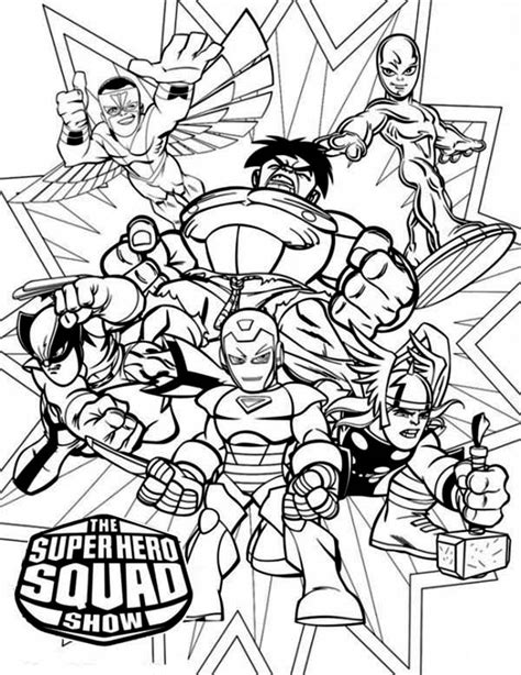 the superhero squad show free coloring pages