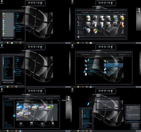 themes black windows 7 windows 7 theme black glass by toxicosm on deviantart