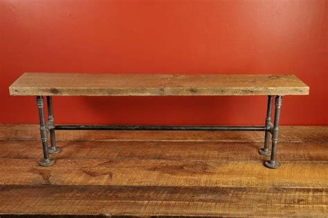 pipe bench legs reclaimed wood bench with pipe legs bench legs awesome