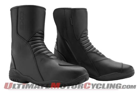 axo road and way waterproof motorcycle boots released