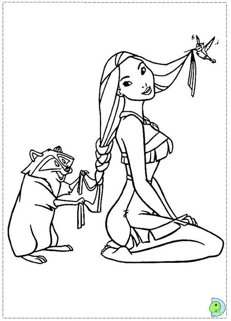 Free Coloring Pages Princess Pocahontas Coloring Pages