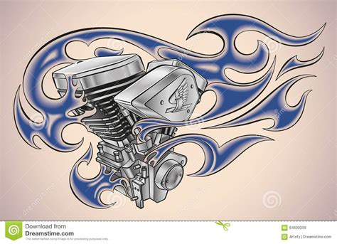 yoda old school tattoo tatouage flamboyant de moteur illustration de vecteur