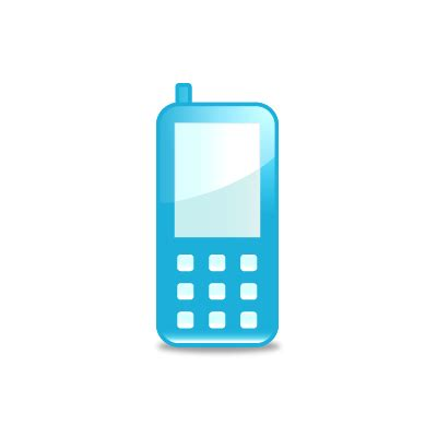 cell phone blue light mobile 1 light blue mobile cell phone icon 256x256
