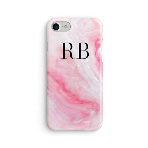 Po Custom In Pink Charm For Iphone Samsung Limited custom initial marble pink iphone x iphone 8
