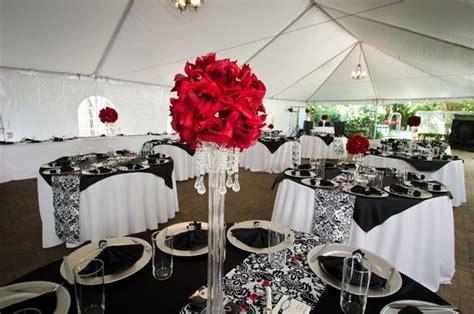 Black, White, Red Damask Wedding Party Ideas   wedding