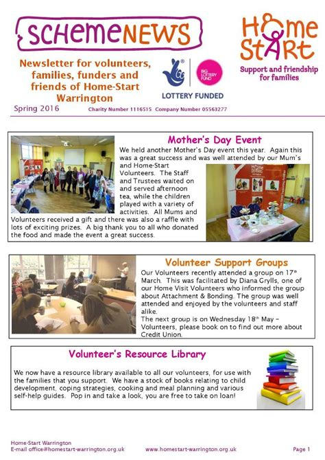 charity newsletter homestart a leading family support charity