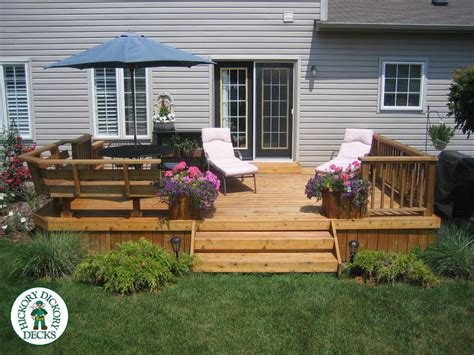 this simple yet cedar deck provides the
