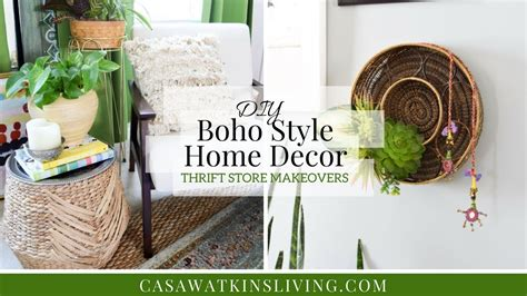 thrift store diy home decor diy boho style home decor thrift store makeovers youtube