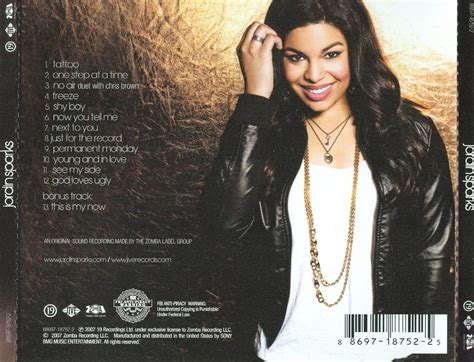 jordin sparks spine tattoo copertina cd jordin sparks jordin sparks back cover