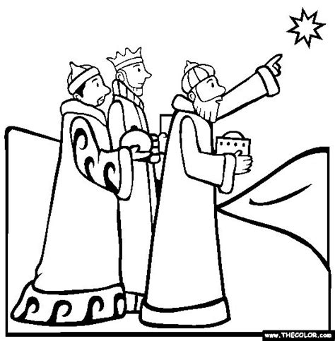 free coloring pages of 3 wise men camels