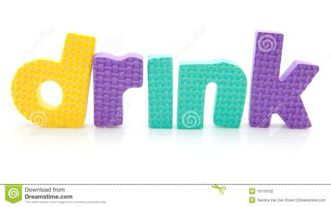 4 Letter Words Drink word drink in foam letters stock photography image 15119132