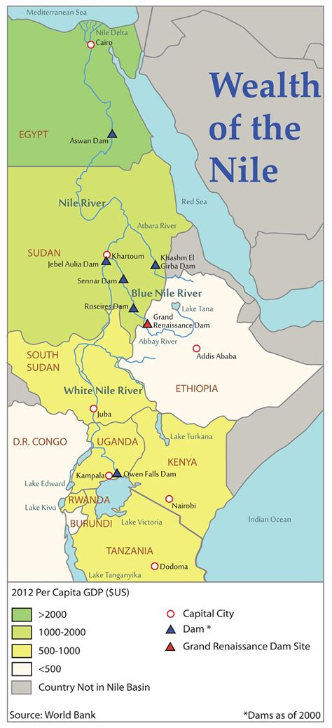nile river on a map dam concern for nile water security spurs