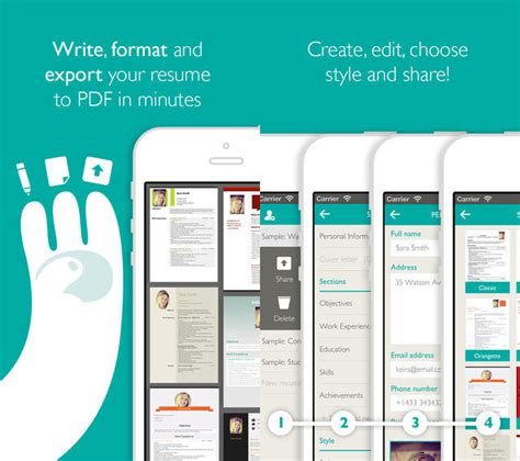 Best Resume App Iphone Free Apps For Today Duak Resume Designer Pro Writedown And More