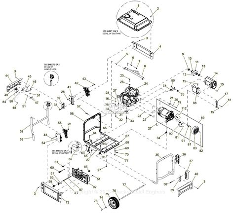 assembly diagram generac 0059310 xp8000e parts diagram for assembly