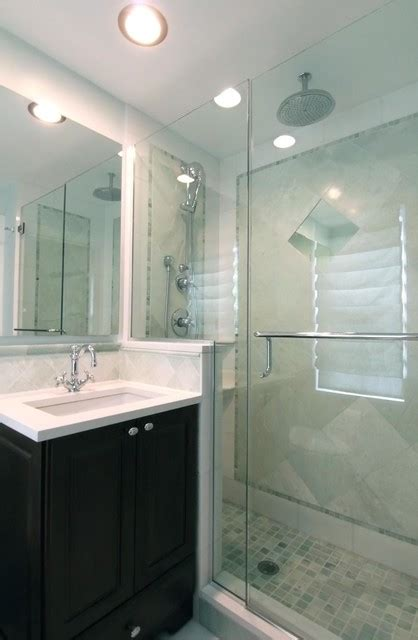 Remodeling Small Master Bathroom Ideas Evanston Small Master Traditional Bathroom Chicago By Angela Murphy