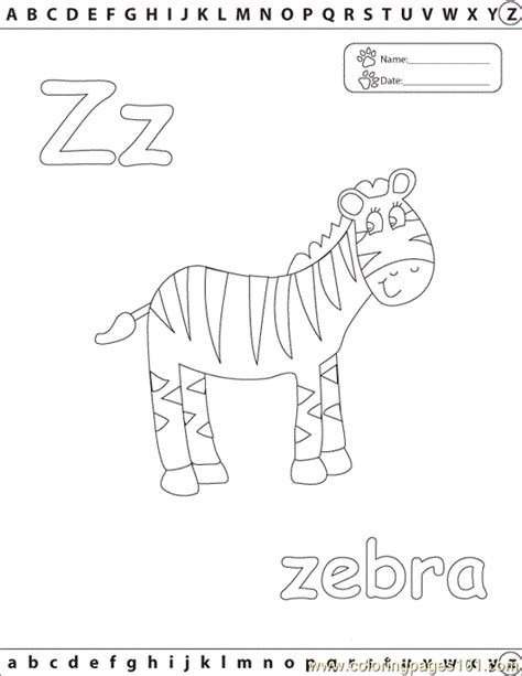 Z Zebra Coloring Page by Z Zebra Edu Coloring Page Free Alphabets Coloring Pages