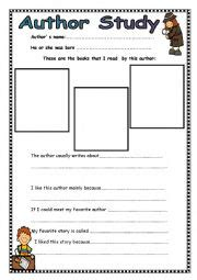 Author Study Worksheet by Worksheets Author 180 S Study