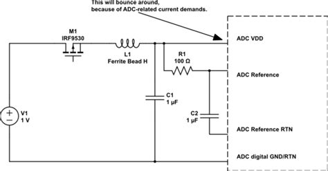 fet transistor noise transistors noise in fet polarity protection for adc electrical engineering stack