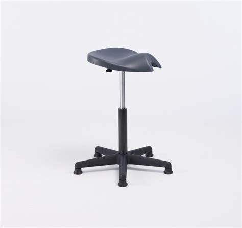 Grey Stool In Adults by Ergonomic Saddle Stool