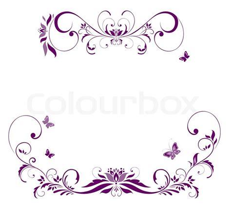 cornici per volantini violette blumen grenze raster kopieren stockfoto colourbox