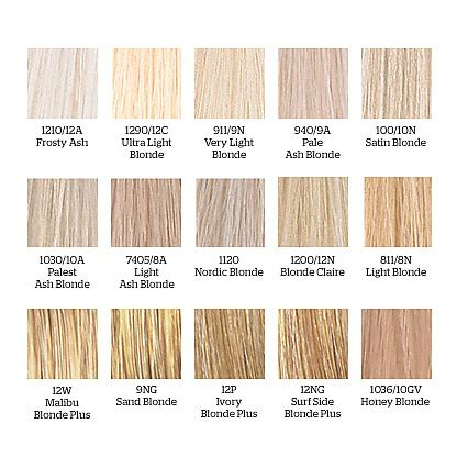 colour chart of the hair colour brand wella koleston how to warm up your blonde hair hair world magazine