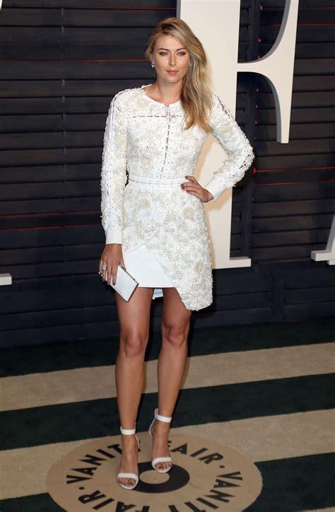 Vanity Fair Oscar 2016 Sharapova Sharapova At Vanity Fair Oscar 2016 Celebzz