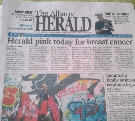 Thursday Three Breast Cancer Vixens by Albany Herald Turning Pink Thursday For Breast Cancer
