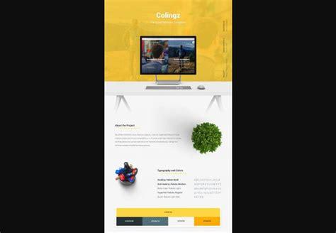 colingz personal website template free psd psdexplorer