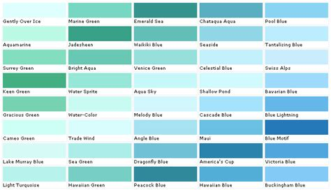 aquamarine color chip sle swatch palette color charts exterior interior wall