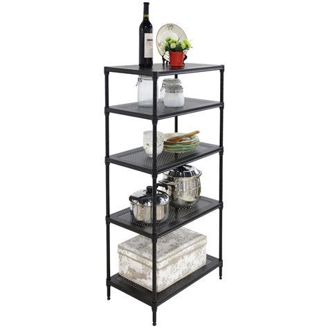 24x14x48 Steel Shelf Storage Adjustable 5 Tier Wire Wire Rack Shelving