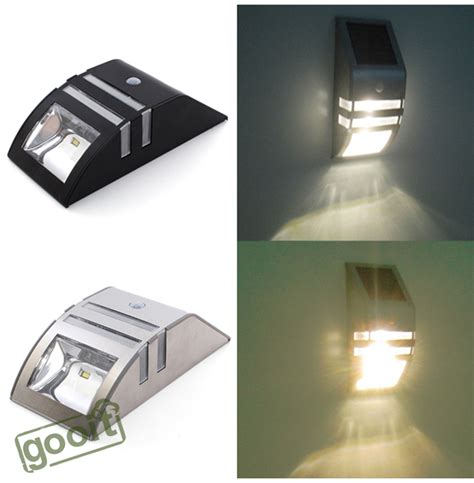 Stainless Steel Solar Power Highlight Led Pir Induction Stainless Steel Solar Wall Light