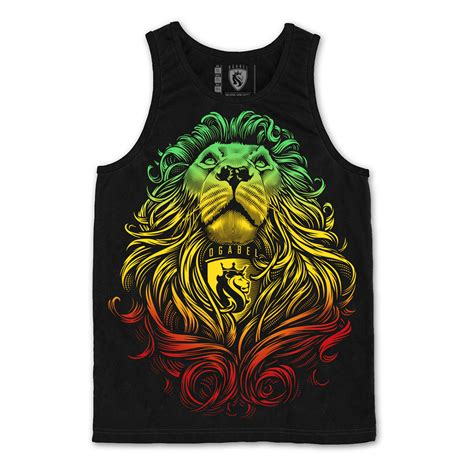 jersey design reggae rasta cecil lion black tank men s at rastaempire com