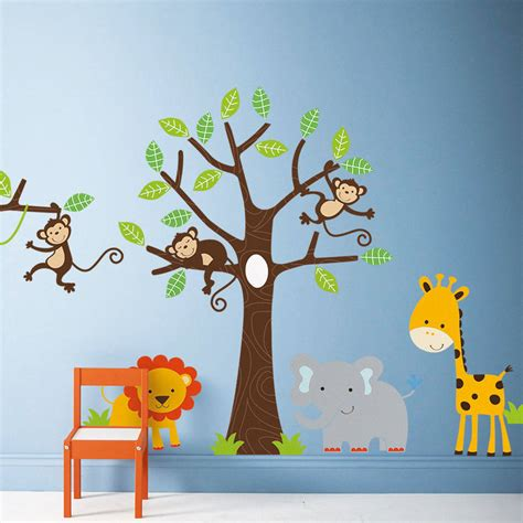 childrens wall sticker children s jungle wall stickers by parkins interiors notonthehighstreet