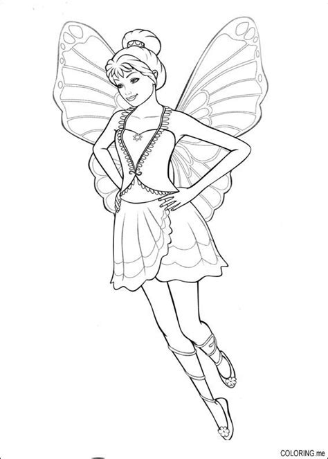 photos bild galeria barbie fairy coloring pages