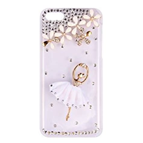 Ballet Rhinestone Cover For Iphone 5c Handmade Import bling ballet dancer rhinestone transparent clear back cover for iphone 5c