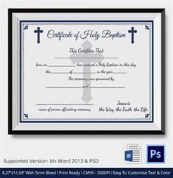 20 sample baptism certificate templates free sample